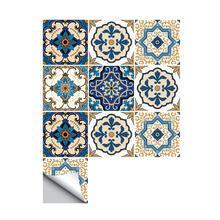 10PCS Innovative Minimalist Moroccan-Style Ceramic Tile Art Decor Living Room Waterproof Wall Stickers PE Foam Green PVC 2019
