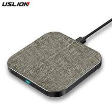 USLION 10 Вт Быстрое беспроводное зарядное устройство для samsung Galaxy Note 8/S9/S8 для Xiaomi для iPhone XS Max/X/XS/XR Qi беспроводной зарядный коврик