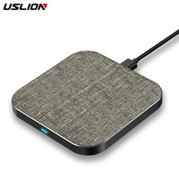 USLION 10W fast wireless charger for Samsung Galaxy Note 8/S9/S8 For Xiaomi for iPhone XS Max/X/XS/XR Qi Wireless Charging Pad Mobile Phone Chargers