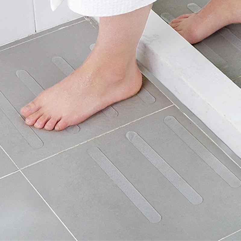 5 ピース/セットアンチスリップバスマット防水粘着バスグリップステッカー安全フローリングテープマットパッドシャワーストリップ浴室用