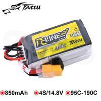 Tattu R Line 850mAh 4S Battery 14.8V 95C XT30 XT60 Plug RC Power for FPV Drone 150 Size Racing Multirotor Quadcopter Frame