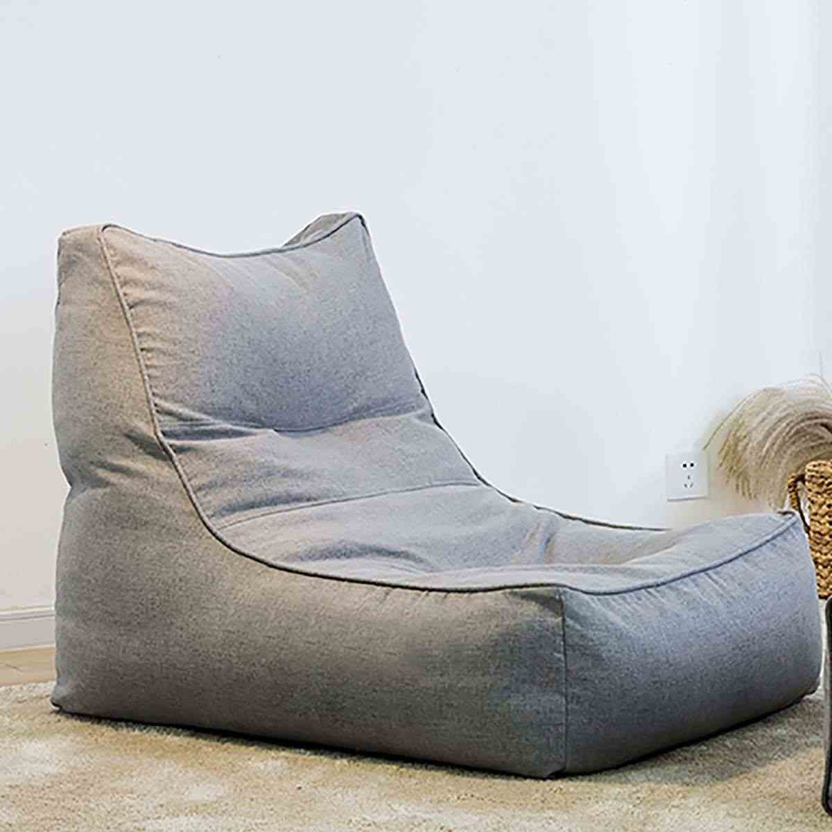 Leniwy BeanBag sofy pokrycie krzesła bez wypełniacza pościel tkaniny leżak siedzenia worek fasoli Puff Puff kanapa Tatami meble do salonu