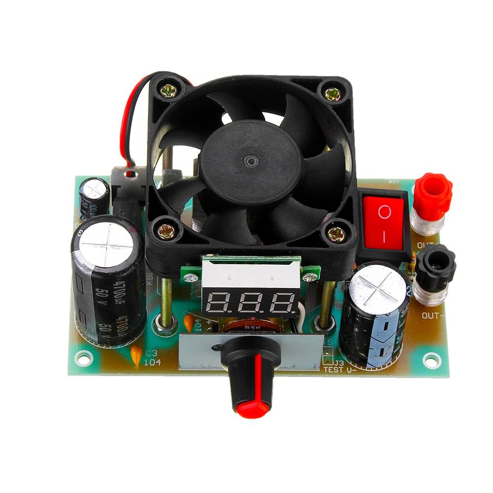 CLAITE 1PC High Power Adjustable Linear Module 3A Voltage Digital Display  Buck Step Down Regulator Circuit