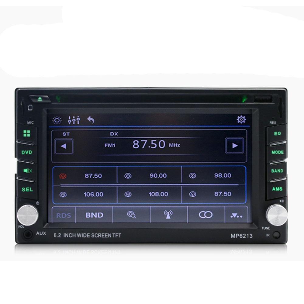Voiture 6.2 Pouces Multimédia Dvd Cd Carte Machine Mp3 Lecteur Fm Radio Mp6213