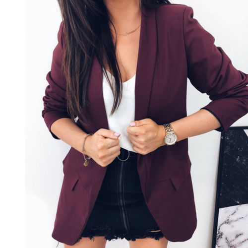 2018 Women Slim Casual Business Blazer Suit Jacket Coat Outwear