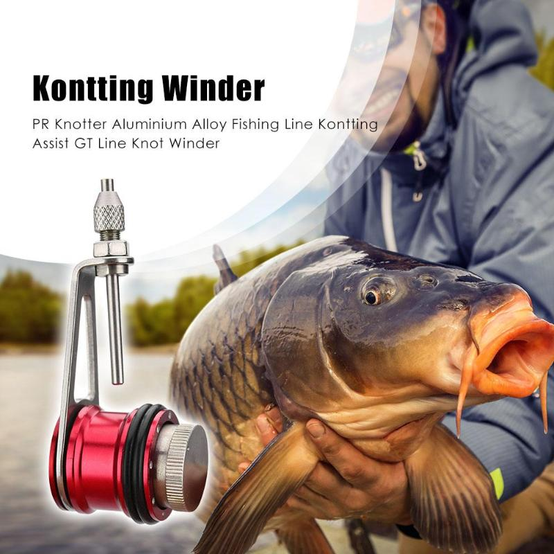 1Pc Fishing PR Knotter Aluminium Alloy Fishing Line Kontting Assist GT Line Knot Winder Machine Fishing Tackle Accessory
