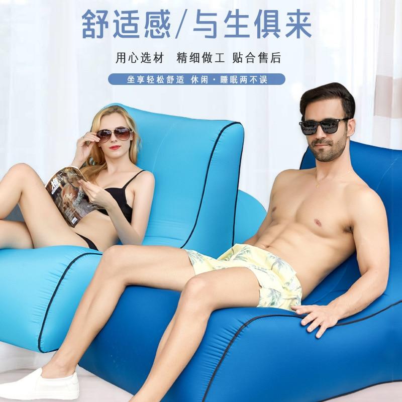 Single Inflatable Bed Sofa Air Cushion Outdoor Portable Beach Cushion Camping Cushion Air Cushion sleeping pad air bed
