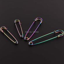 10pcs/lot Rainbow 57/76mm Colorful Hot Fashion Metal Safety Pins Brooch pins for Women Decoration Accessories