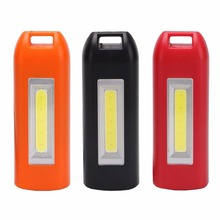 Mini Cob Flashlight LED Light Keychain USB Torch Lamp Load Portable lantern