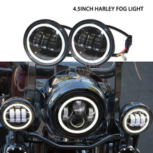 free ship 30W motorcycle LED fog light with halo projector lens for 4x4 Harley motorcycles high power lamps