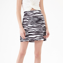 YICIYA Women Clothes 2019 Plus Size High Waisted Street Sexy Style Zebra Printed Mini Skirt Short Skirts