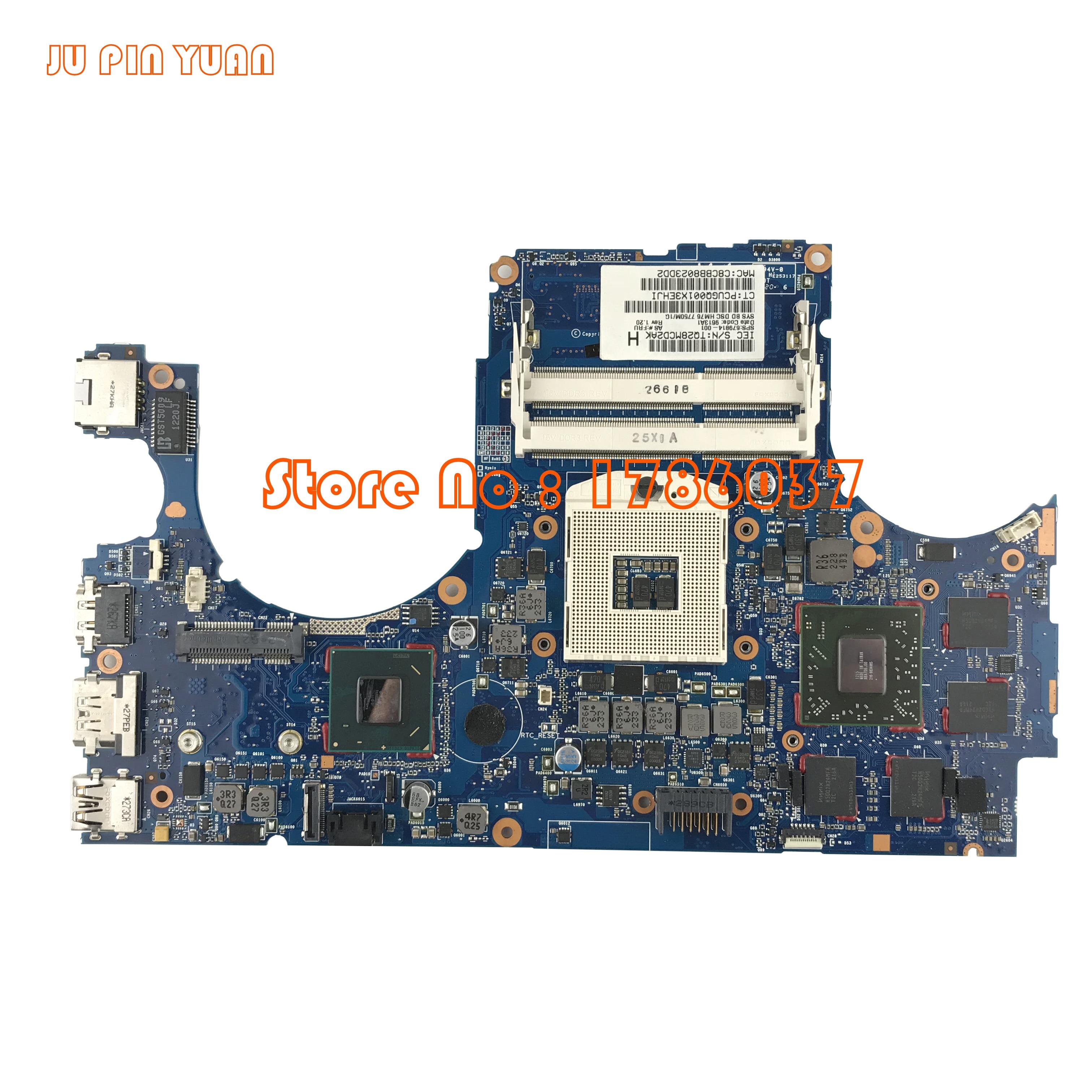 JU PIN YUAN 679814 001 For HP Envy 15 3000 15T 3200 series Laptop Motherboard HM76