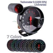 5 дюймов Автомобильный оборотов в минуту 11000K Тахометр Датчик 7 цветов задняя светильник об/мин светодиодный переключения светильник 12V для 4/6/8 цилиндровый двигатель транспортных средств