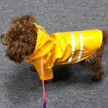 Outdoor Puppy Pet Rain Coat S-XL Hoody Waterproof Jackets PU Raincoat for Dogs Cats Apparel Clothes WXBW