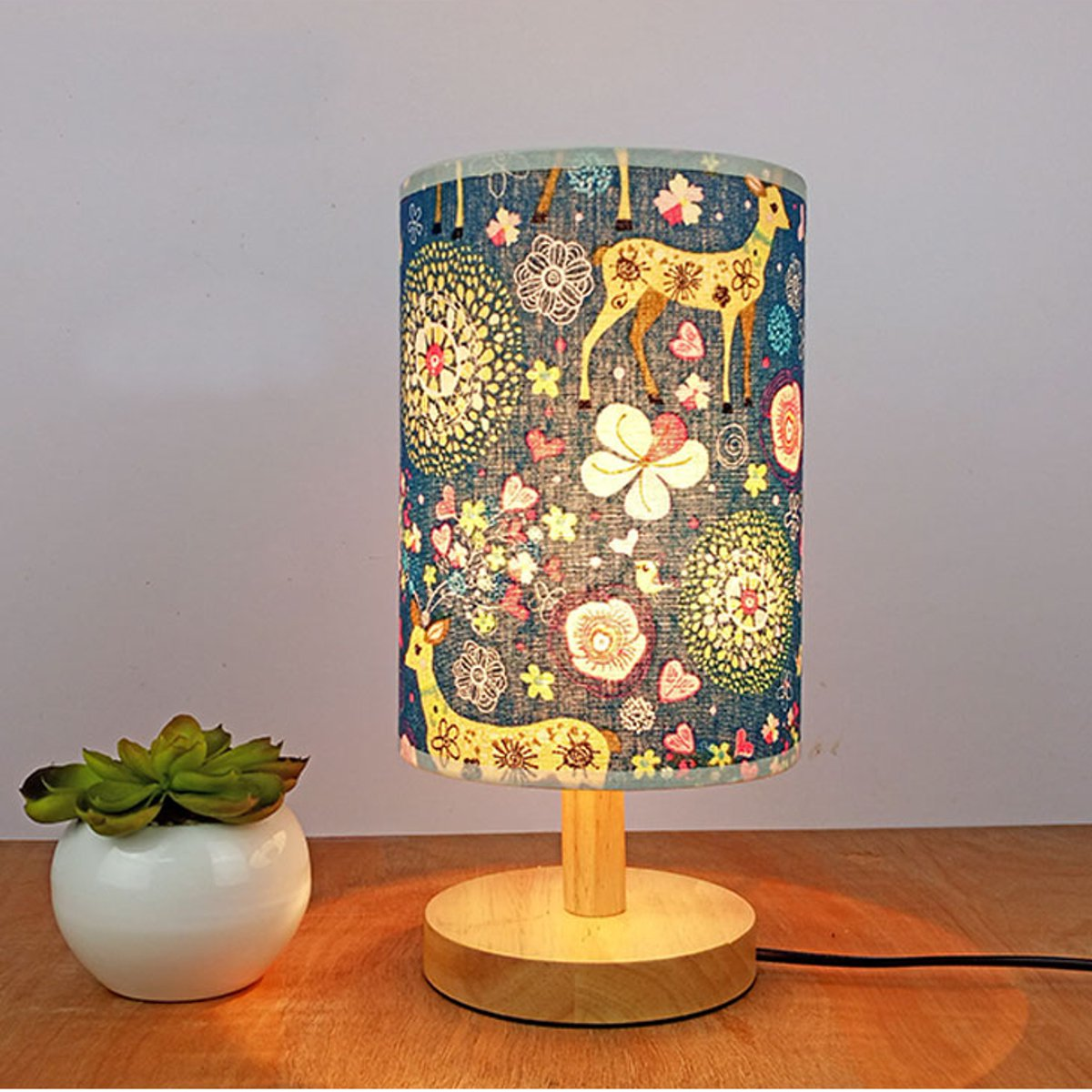 14*20CM Vintage Lampshade Fot E27 Lamp Holder Floral Bird Lamp Cover Shade Table Ceiling Light Cover Indoor Lighting Accessories