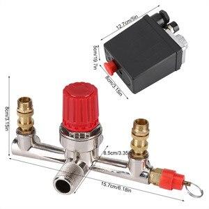 Image 5 - Yeni AC 230 V 2 Fazlı 1 Liman Basınçlı Kontrol Anahtarı Vana hava kompresör pompası Kontrol Anahtarı 2 Basın Ölçüleri 0  180 PSI