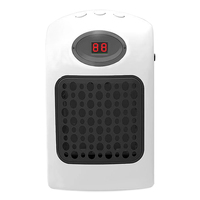 Mini Wall Outlet Portable Office Home Heater Ceramic Heating Adjustable Thermostat And Plug Direction Timer With LED Screen 900W