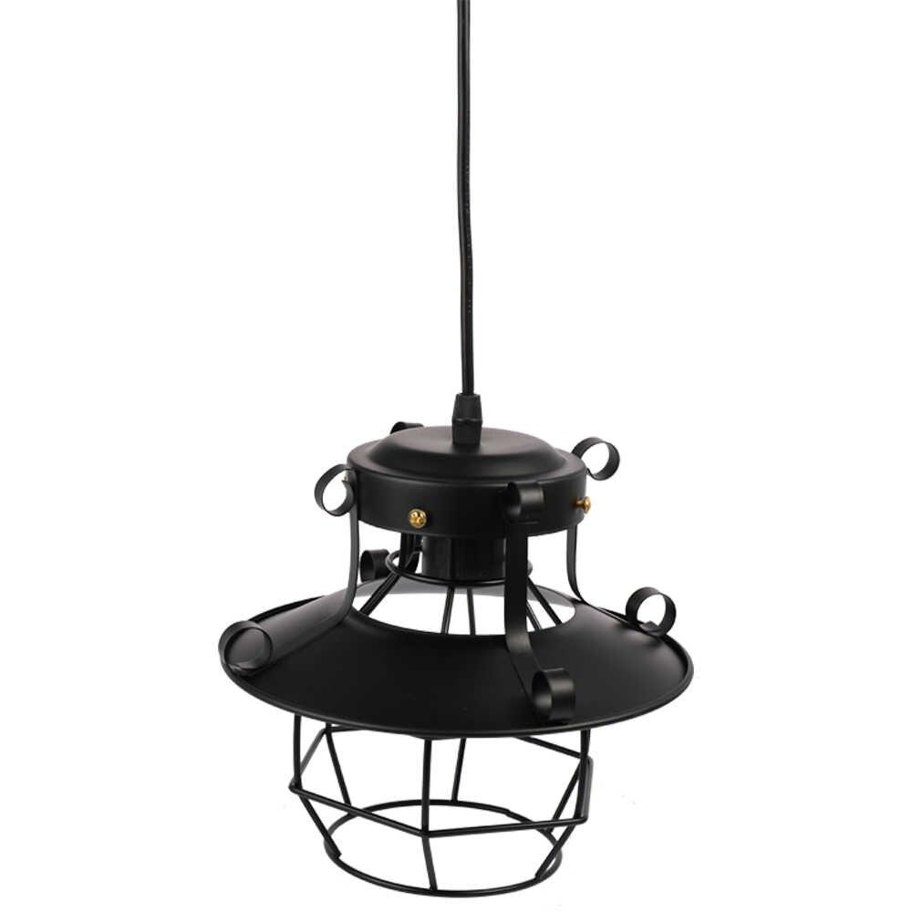 Профессиональная Старинная Мода ретро винтажный стиль Промышленная люстра антикварная стеклянная лампа бра 220 В черный железный