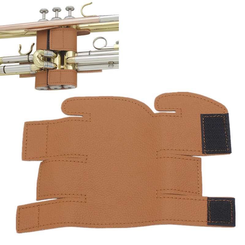 High Quality Soft Durable Brown Synthetic Leather Professional Trumpet Protective Cover Case Trumpet Parts Accessories
