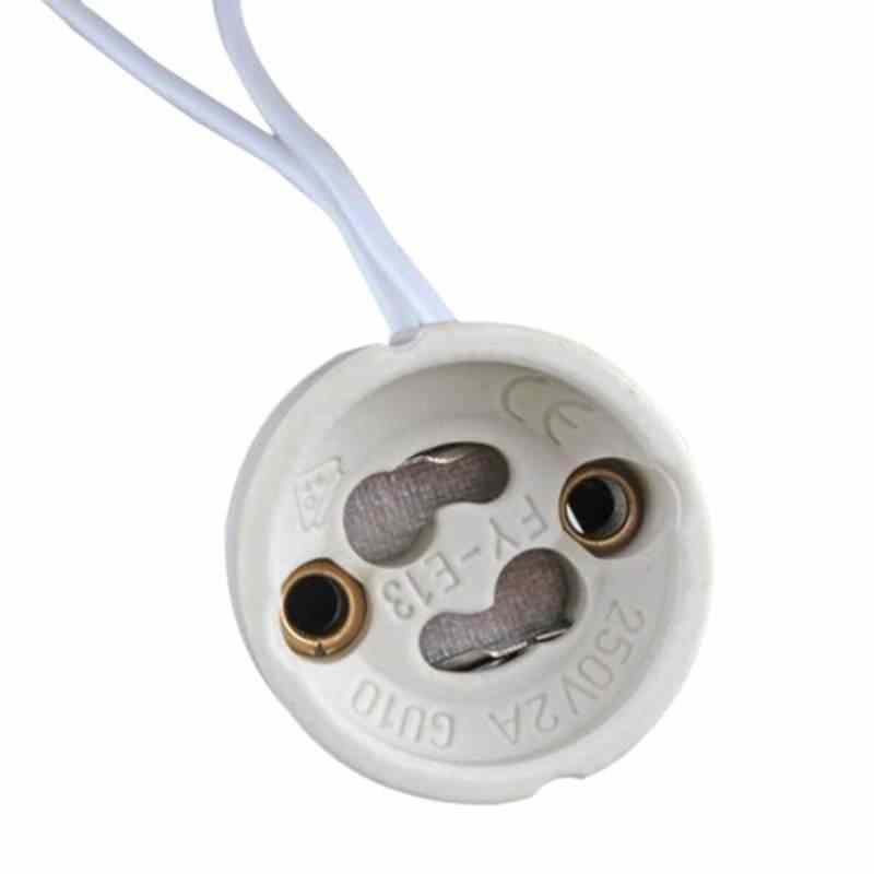 Smuxi 5 шт./лот GU10 основание светильника диапазон разъем Светодиодные ленты Разъем для галогенные Керамика освещение, грушевидные лампочки держатель База провода