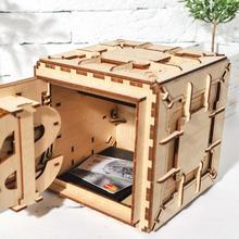 Творческий DIY 3D сборки деревянные головоломки игрушки инновационный замок Коробка сокровищ Механическая Трансмиссия Романтический подарок ко Дню Св