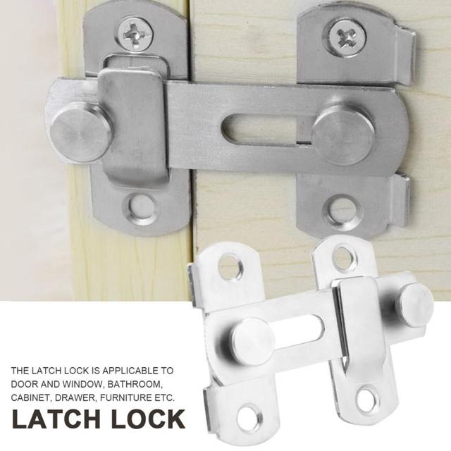 Stainless Steel Latch Lock For Window Cabinet Pet Cage Sliding Door Accessorries Hasp Latches Drawer Security Hardware