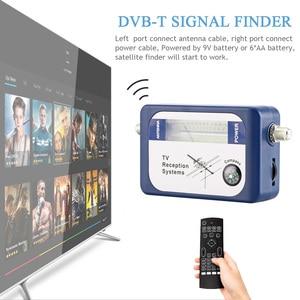 Image 2 - Forstandard DVB T محدد رقمي إشارة مكتشف استقبال التلفزيون مع البوصلة هوائي مؤشر كثافة متر هوائي عبر الأقمار الصناعية