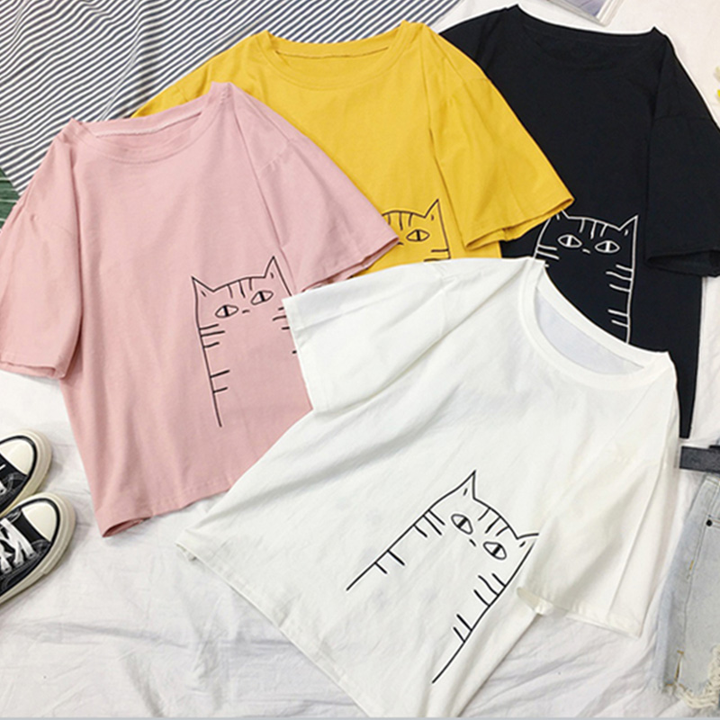 Punctual 2018 Summer New Women Loose Slim Ball Suit Street Letter Print T-shirt Women's Clothing