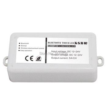 2 pcs/lot Bluetooth led light controller DC12-24V dimmer RGBW strip RF touch lamp