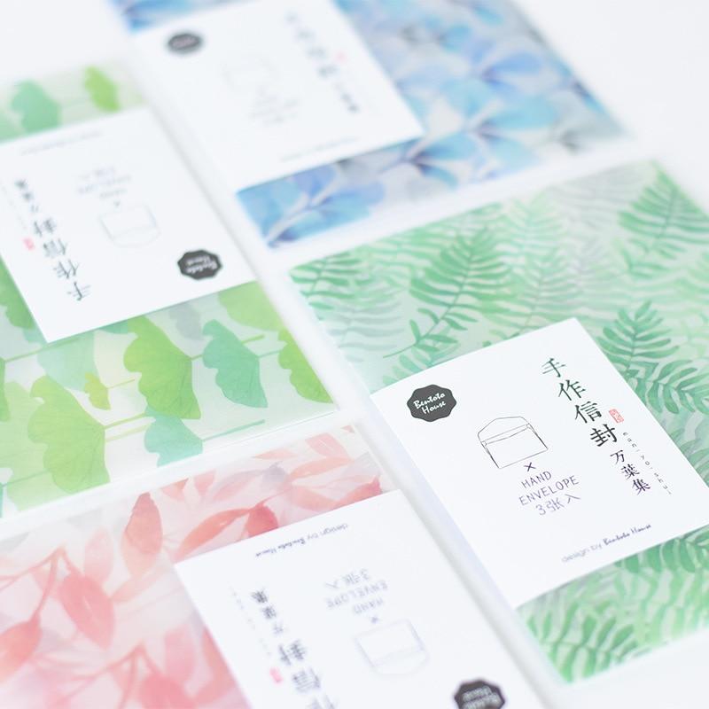 Letter Paper Photo Postcard Holder Cover Stationary Translucent Paper Envelope