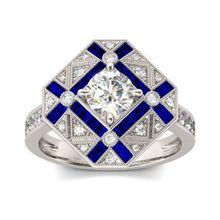 Роскошные геометрические большие кольца для мужчин и женщин, 925 серебро, синий, белый циркон, обручальное кольцо, мужское кольцо с камнем рождения, сапфировое кольцо