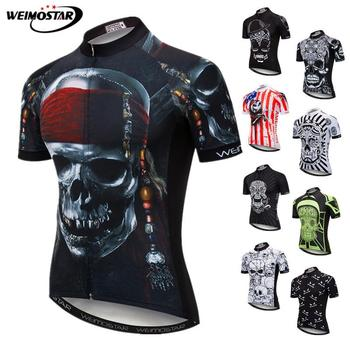 Weimostar Skull Cycling Jersey Men Pirate Bicycle Clothing Maillot Ciclismo Pro Team MTB Bike Jersey Cycling Shirt Ropa Ciclismo orangutan cycling jersey tops summer cycling clothing ropa ciclismo short sleeve mtb bike jersey shirt maillot ciclismo 5114