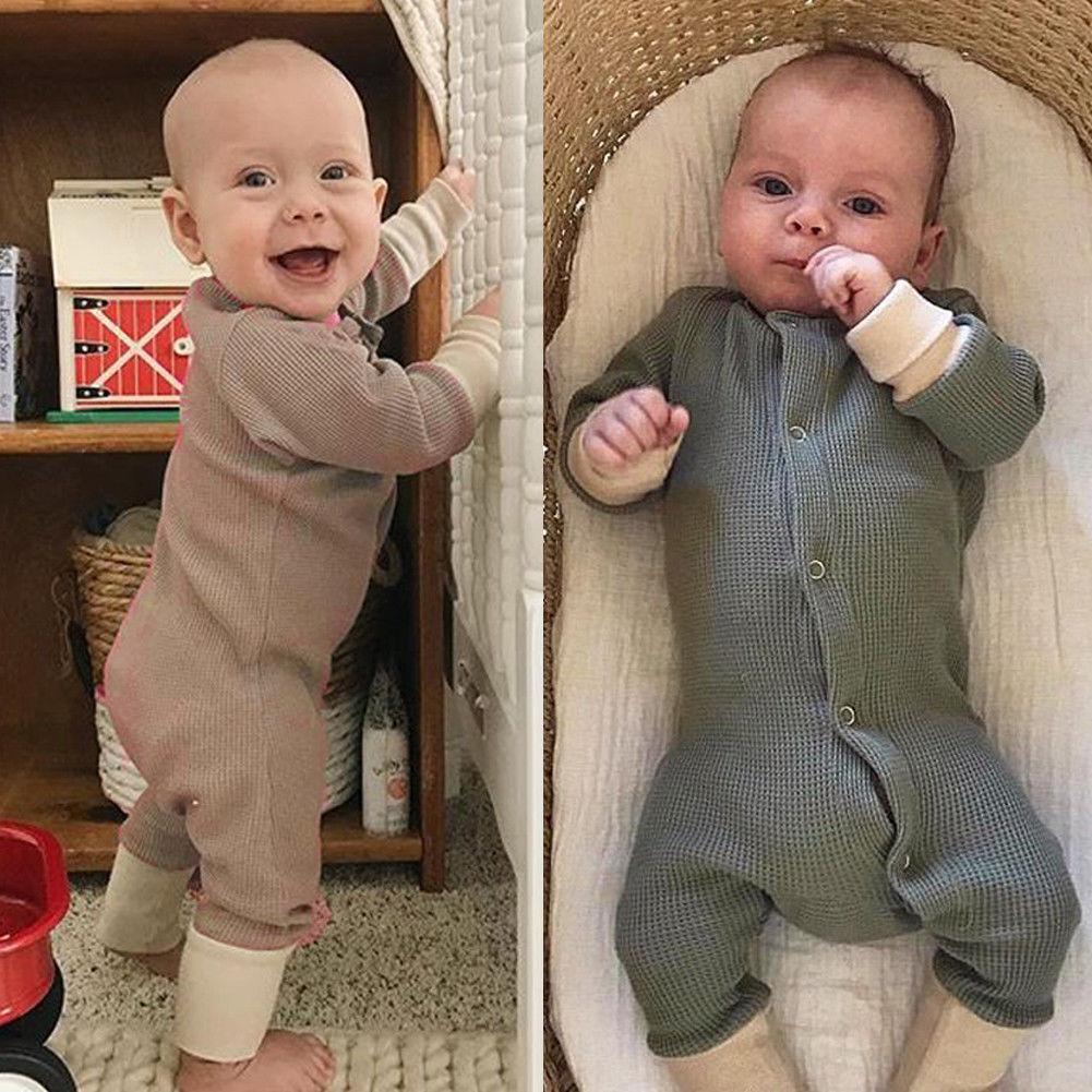 Faithful Newborn Infant Baby Sleeper Long Sleeve Buttons Up Sleepwear Autumn Clothes One Piece 0-18m Blanket Sleepers Mother & Kids