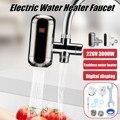 3000 W eléctrico calentador de agua sin tanque cocina instantánea grifo de agua caliente eléctrica del calentador de agua del grifo de calefacción grifo 220 v