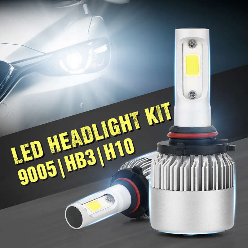 Car Headlight Bulbs(led) Genteel Jxlclyl 2pcs 9005/h10 Cob Led Car Headlight Head Lamp Fog Light Bulb Kit Cool White To Reduce Body Weight And Prolong Life Car Lights