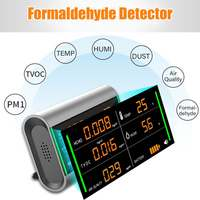 Digital Screen Rechargeable TVOC HCHO Formaldehyde Air Quality Detector Benzene/Dust/Temperature/Humidity Meter Monitor Tester