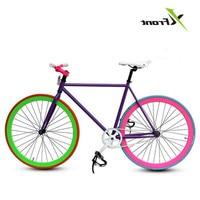 Оригинальный бренд Fixie велосипедная неподвижная передача велосипед 46 см 52 см Diy односкоростной Дорожный велосипед трек Fixie велосипед фиксир