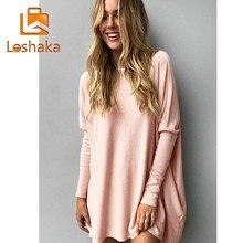 Loshaka Women Oversized T Shirt Long Batwing Sleeve Pullover Tunic Shirts Loose Casual Top