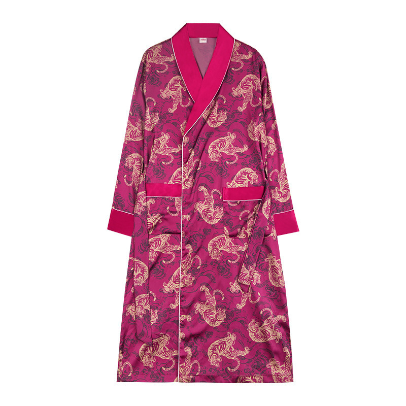 Pajama robe suit Silk-like Pajamas Men Shorts's Nightgowns &amp Sleepshirts Home Service Two Piece Set sleep & lounge