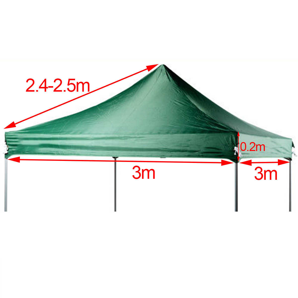 Replacement Gazebo Garden Canopy Top Tent Cover Camping Beach Patio Sun Tarp