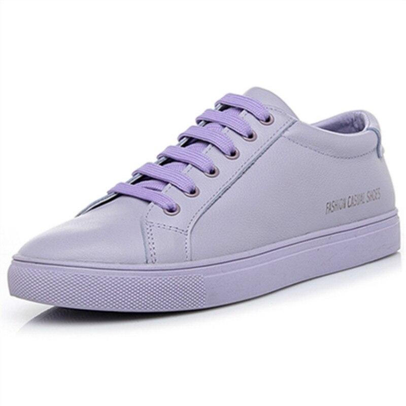 SWYIVY chaussures femmes Sneakers 2019 chaussures en cuir blanc baskets pour femme chaussures décontractées respirant noir baskets femmes taille 40