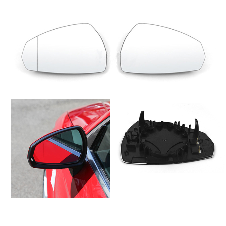 Car Replacement Left Right Heated Wing Rear Mirror Glass For <font><b>Audi</b></font> <font><b>A3</b></font> S3 2014 2015 <font><b>2016</b></font> 2017 2018 2019 8V0857535D 8V0857536D image