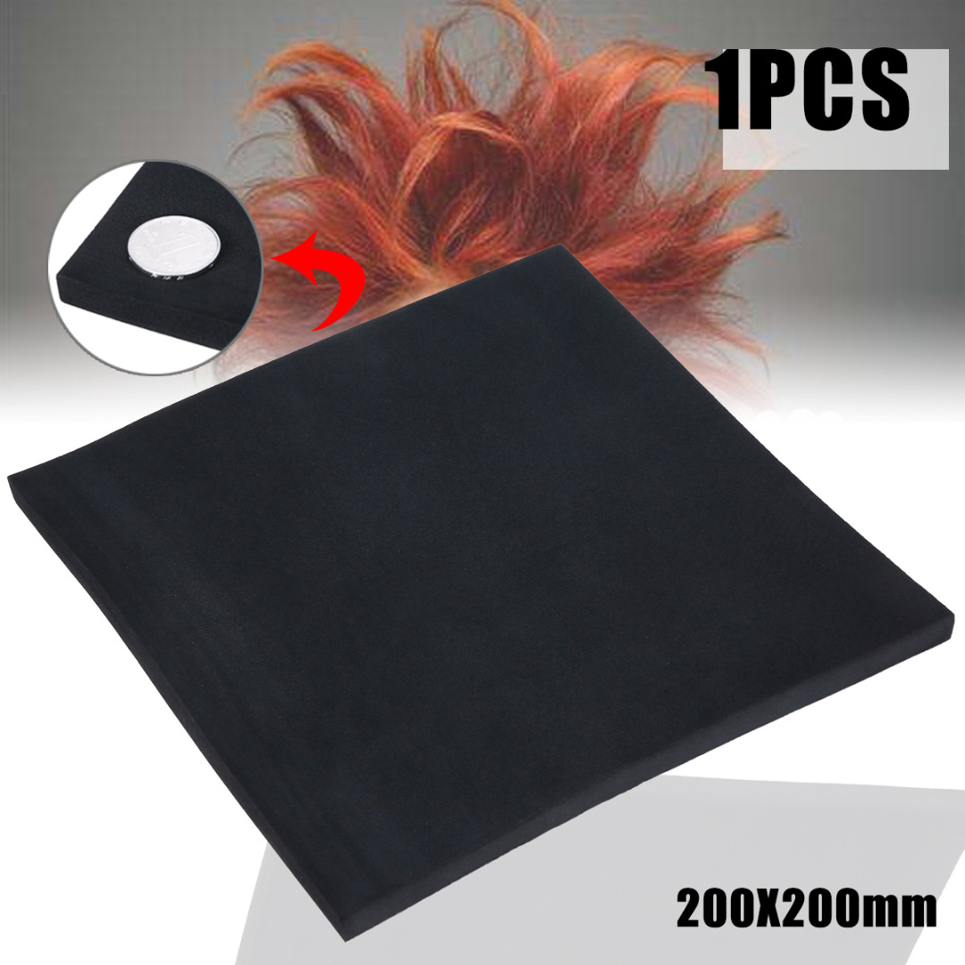 3/5/10 Mm ESD Black Sound-Absorbing Noise Sponge Foam High Density Foam Anti Static Pin Insertion Soundproofing Foam 200*200mm