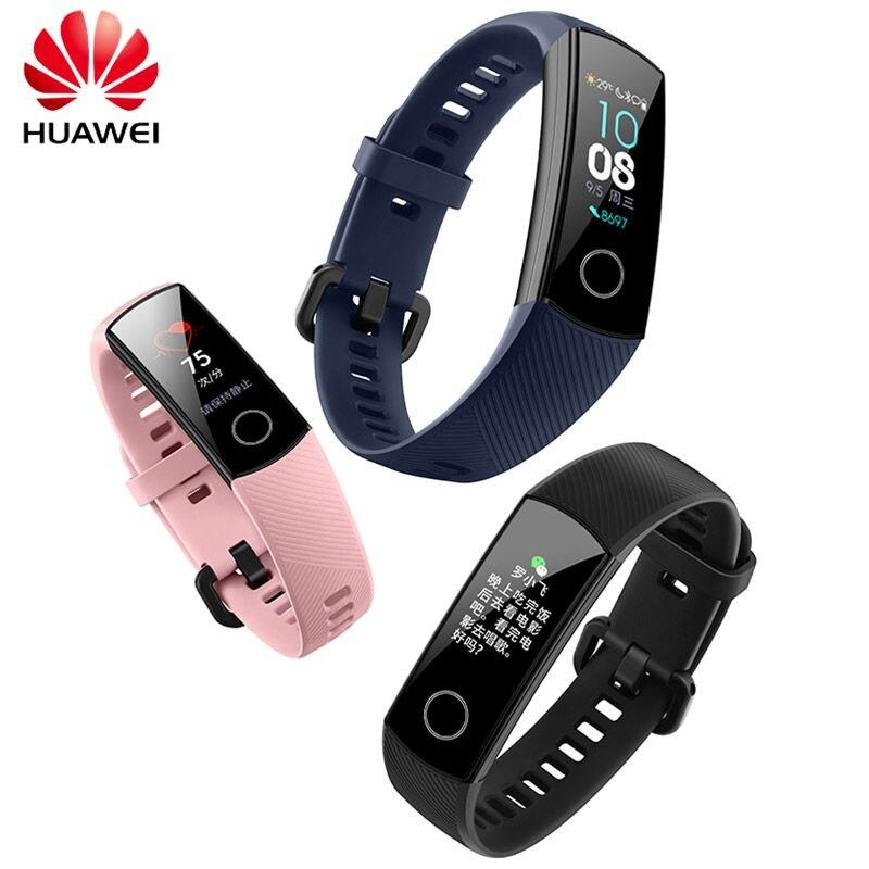 Huawei Honor banda 4 0,95 AMOLED 2.5D nadar postura detectar Corazón de dormir Snap Monitor banda inteligente reloj de pulsera de los hombres las mujeres