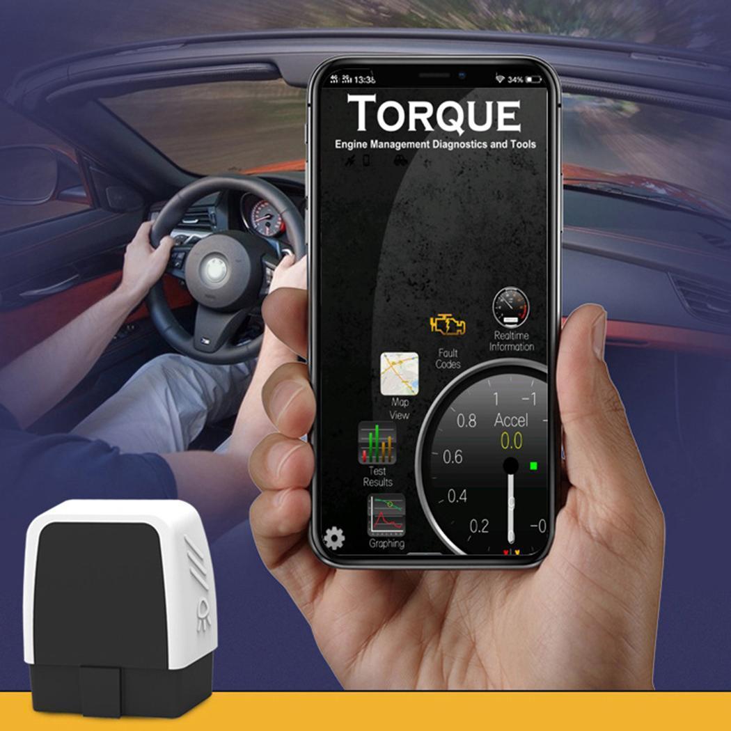Mini OBD2 Bluetooth 4.0 Auto Auto Fault 20mA Diagnostico 85mA Scanner-40 ~ 85 Reader Nero 9 V ~ 16 V Strumento