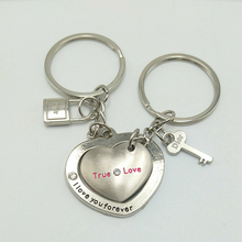 Hot Sale Special Offer New I Love U Heart Lock Key Couple Keychain Creative Tanabata Gift