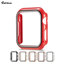 Frame Case For Apple Watch 4 40MM 44MM Slim PC Armor Cases 360 Full Cover Iwatch Applewatch 4s Shockproof Skin