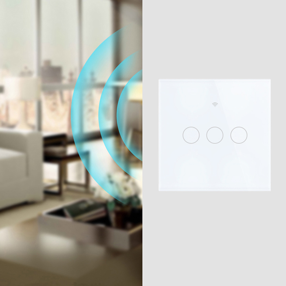 Smart WiFi Light Switch Interruptor Touch Wall Power Switch App Remote Control Intellegent Switch For Alexa/Echo Home 1/2/3 Gang