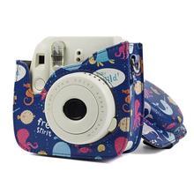 Для Fuji Fujifilm Instax Mini 8 8+ 9 чехол для камеры Сумка с ретро узором защитный чехол из искусственной кожи Аксессуары для камеры