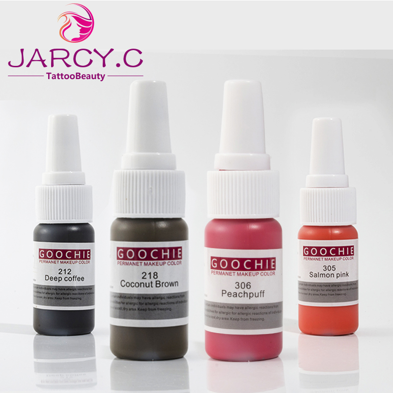 Goochie Original Permanent Makeup tattoo ink pure organic liquid pigment 1 2Oz 15ml for eyebrow tattoo